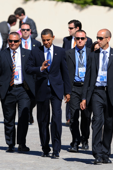 World leaders of the major industrialized democracies at the second day of talks at the G8 summit in Italy.