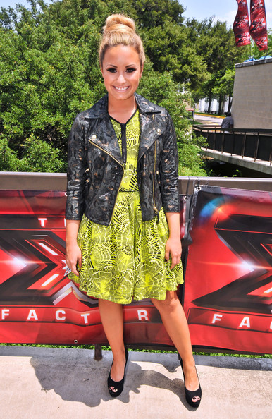 'X-Factor' judges, Britney Spears, Demi Lovato, LA Reid and Simon Cowell arriving for the first day of auditions at the Erwin Center in Austin, Texas on May 24, 2012.