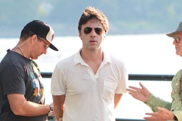 Zach Braff Stars Prepare on the Set of 'Going In Style' in NYC