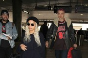 Actress Zoe Kravitz and boyfriend Karl Glusman is seen departing on a flight at LAX airport in Los Angeles, California on February 27, 2017. The pair were catching a flight out of town after attend the Academy Awards last night in Hollywood.