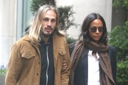 Zoe Saldana and Her Family Go Out in NYC