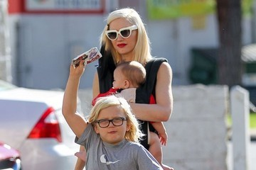 Zuma Rossdale Gwen Stefani & Family Have A Busy Day In Studio City