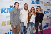 Former NHL player Valeri Bure (LC), actress Candace Cameron-Bure (RC) and their children attend KIIS FM's Wango Tango 2016 at StubHub Center on May 14, 2016 in Carson, California.