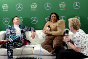 (EDITORIAL USE ONLY. NO COMMERCIAL USE.) (L-R) Jesse Lozano, Lizzo, and JoJo Wright attend 102.7 KIIS FM's Jingle Ball 2019 Presented by Capital One at the Forum on December 6, 2019 in Los Angeles, California.