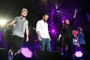 (L-R) Singers Niall Horan, Liam Payne, Harry Styles and Louis Tomlinson of One Direction perform onstage during 102.7 KIIS FMÂ's Jingle Ball 2015 Presented by Capital One at STAPLES CENTER on December 4, 2015 in Los Angeles, California.