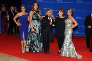The cast of The View (L-R) Paula Faris, Michelle Collins, Raven- Symone, Joy Behar and Candace Cameron-Bure attend the 102nd White House Correspondents' Association Dinner  on April 30, 2016 in Washington, DC.