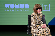 Anna Wintour speaks during the 10th Anniversary Women In The World Summit at David H. Koch Theater at Lincoln Center on April 12, 2019 in New York City.