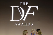 (L-R) Arianna Huffington, Katy Perry, and Allison Williams attend 10th Annual DVF Awards at Brooklyn Museum on April 11, 2019 in New York City.
