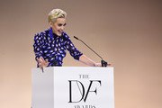 Katy Perry speaks onstage 10th Annual DVF Awards at Brooklyn Museum on April 11, 2019 in New York City.
