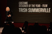 Costume Designer Trish Summerville accepts award for Costume Designer of the Year, Film onstage at the 10th annual Style Awards during Mercedes-Benz Fashion Week Spring 2014 at Lincoln Center on September 4, 2013 in New York City.