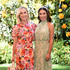 (L-R) Becca Tobin and Lea Michele attend the 10th Annual Veuve Clicquot Polo Classic Los Angeles at Will Rogers State Historic Park on October 05, 2019 in Pacific Palisades, California.