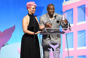 Rebecca King-Crews and Terry Crews speak onstage during the 11th Annual Shorty Awards on May 05, 2019 at PlayStation Theater in New York City.