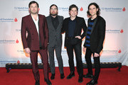Caleb Followill, Nathan Followill, Matthew Followill and Jared Followill of the band Kings Of Leon attend the 11th Annual T.J. Martell Foundation Nashville Honors Gala at the Omni Hotel on February 25, 2019 in Nashville, Tennessee.
