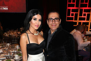 Leyla Milani and Manny Khoshbin attend the 11th Annual TACA 'Ante Up for Autism' - Talk About Curing Autism at Hilton Waterfront Beach Resort on October 28, 2017 in Huntington Beach, California.