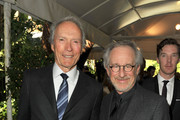 Directors Clint Eastwood (L) and Steven Spielberg arrive at at the 12th Annual AFI Awards held at the Four Seasons Hotel Los Angeles at Beverly Hills on January 13, 2012 in Beverly Hills, California.