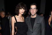 Model Mica Arganaraz (L) and actor Zachary Quinto attend the 12th annual CFDA/Vogue Fashion Fund Awards at Spring Studios on November 2, 2015 in New York City.