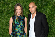 Deisgners Erin Beatty (L) and Max Osterweis of Suno attend the 12th annual CFDA/Vogue Fashion Fund Awards at Spring Studios on November 2, 2015 in New York City.