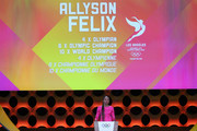 American athelte Allyson Felix during the 131th IOC Session - 2024 & 2028 Olympics Hosts Announcement at Lima Convention Centre on September 13, 2017 in Lima, Peru.