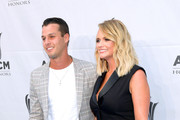 Brendan McLoughlin(L) and Miranda Lambert attend the 13th Annual ACM Honors at Ryman Auditorium on August 21, 2019 in Nashville, Tennessee.
