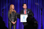 Christina Tosi, event Co-chair, Chef, Founder and Owner, Milk Bar; and Matt Higgins, event Co-chair and Co-founder and CEO, RSE Ventures, recurring shark, Shark Tank are seen onstage during the 13th Annual Autism Speaks Celebrity Chef Gala at Cipriani Wall Street on October 15, 2019 in New York City.