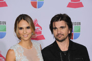 (L-R) Model Karen Martinez and singer Juanes arrive at the 13th annual Latin GRAMMY Awards held at the Mandalay Bay Events Center on November 15, 2012 in Las Vegas, Nevada.