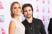 Singer/songwriter Juanes (R) and his wife Karen Martinez arrives at the 13th annual Latin GRAMMY Awards held at the Mandalay Bay Events Center on November 15, 2012 in Las Vegas, Nevada.