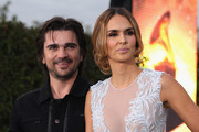 Singer Juanes and Actress/model Karen Martinez  arrive at the 13th annual Latin GRAMMY Awards held at the Mandalay Bay Events Center on November 15, 2012 in Las Vegas, Nevada.