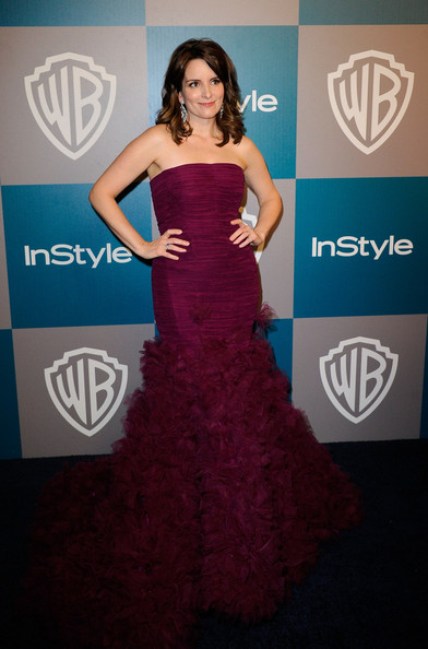 Actor Tina Fey arrives at 13th Annual Warner Bros. And InStyle Golden Globe Awards After Party at The Beverly Hilton hotel on January 15, 2012 in Beverly Hills, California.