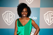 Actress Adepero Oduye arrives at 13th Annual Warner Bros. And InStyle Golden Globe Awards After Party at The Beverly Hilton hotel on January 15, 2012 in Beverly Hills, California.