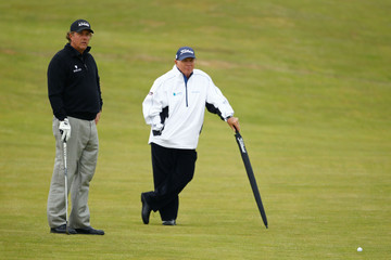 Phil Mickelson Butch Harmon 140th Open Championship - Previews