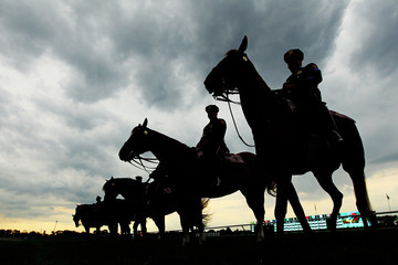 Police belmont 144th Belmont Stakes