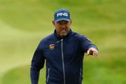 Lee Westwood of England looks on during a practice round prior to the 148th Open Championship held on the Dunluce Links at Royal Portrush Golf Club on July 17, 2019 in Portrush, United Kingdom.