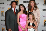 (L-R) Actor Sylvester Stallone, daughters Sophia Rose Stallone and Scarlet Rose Stallone and wife Jennifer Flavin attend the 14th annual Hollywood Awards Gala at The Beverly Hilton Hotel on October 25, 2010 in Beverly Hills, California.