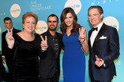 (L-R) Caryl M. Stern, Sir Ringo Starr, Desiree Gruber, and Kyle MacLachlan attend the 14th Annual UNICEF Snowflake Ball 2018 on November 27, 2018 in New York City.