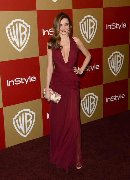 Model Miranda Kerr attends the 14th Annual Warner Bros. And InStyle Golden Globe Awards After Party held at the Oasis Courtyard at the Beverly Hilton Hotel on January 13, 2013 in Beverly Hills, California.
