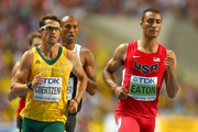 (L-R) Willem Coertzen of South Africa and Ashton Eaton of the United States compete in the Men's Decathlon 1500 metres during Day Two of the 14th IAAF World Athletics Championships Moscow 2013 at Luzhniki Stadium on August 11, 2013 in Moscow, Russia.