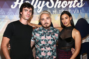Roby Attal, Russo Schelling and Janina Gavankar attend the 15th Annual Oscar Qualifying HollyShorts Film Festival - Opening Night Gala at TCL Chinese 6 Theatres on August 08, 2019 in Hollywood, California.