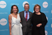 Chair, New England Board Barbara Eisenson, Managing Director, UNICEF USA Matthew Bane, and CEO & President, UNICEF USA Caryl M. Stern attend 15th Annual UNICEF Gala Boston 2019 at The Castle at Park Plaza on May 23, 2019 in Boston, Massachusetts.