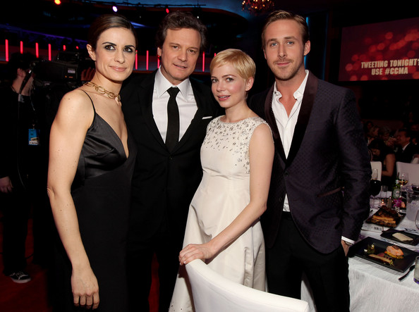 (L-R) Producer Livia Giuggioli, actor Colin Firth, actress Michelle William and actor Ryan Gosling during the 16th annual Critics' Choice Movie Awards at the Hollywood Palladium on January 14, 2011 in Los Angeles, California.