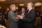 (L-R) Actor/director Mel Gibson, Fox Filmed Entertainment Chairman/CEO Jim Gianopulos, and AFI Board of Trustees Chair Sir Howard Stringer attend the 17th annual AFI Awards at Four Seasons Los Angeles at Beverly Hills on January 6, 2017 in Los Angeles, California.