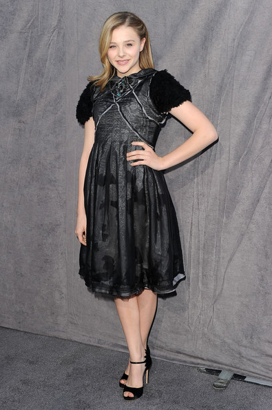 Actress Chloe Grace Moretz arrives at the 17th Annual Critics' Choice Movie Awards held at The Hollywood Palladium on January 12, 2012 in Los Angeles, California.