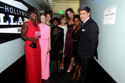 "(L-R) Actors Viola Davis with the award for Best Acting Ensemble for ""The Help"", Jessica Chastain, Emma Stone, Cicely Tyson, Ahna O'Reilly, Allison Janney, Octavia Spencer and Chris Lowell attend the 17th Annual Critics' Choice Movie Awards held at The Hollywood Palladium on January 12, 2012 in Los Angeles, California."