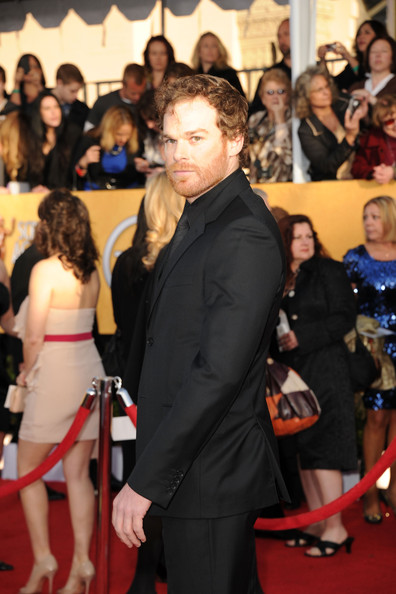 Actor Michael C. Hall arrives at the 17th Annual Screen Actors Guild Awards held at The Shrine Auditorium on January 30, 2011 in Los Angeles, California.