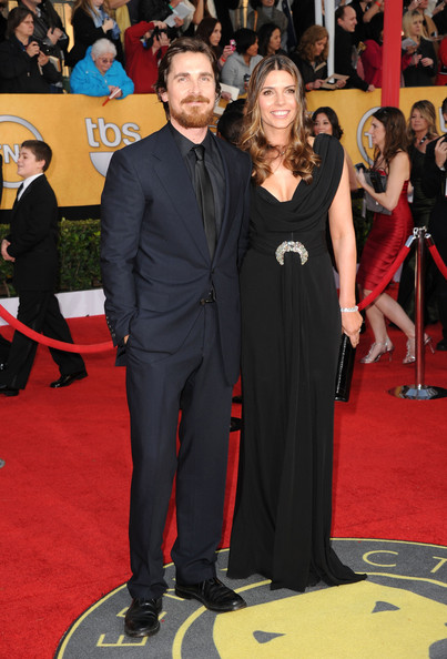 Actor Christian Bale (L) and wife Sibi Blazic arrive at the 17th Annual Screen Actors Guild Awards held at The Shrine Auditorium on January 30, 2011 in Los Angeles, California.