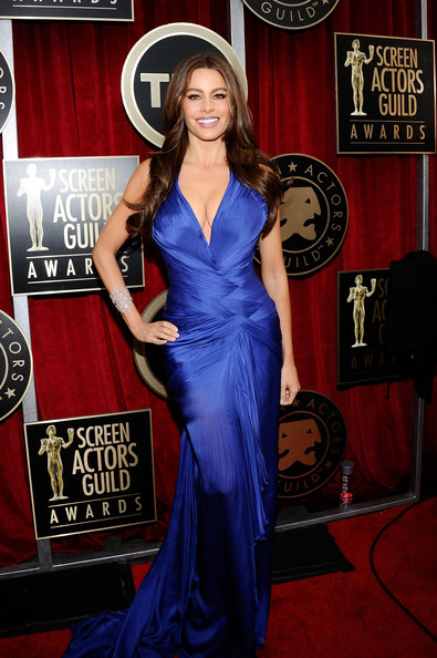 Actress Sofia Vergara arrives at the 17th Annual Screen Actors Guild Awards held at The Shrine Auditorium on January 30, 2011 in Los Angeles, California.