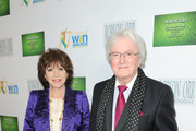 Evie Bricusse (L) and composer Leslie Bricusse attend 17th Annual Women's Image Awards at Royce Hall, UCLA on February 10, 2016 in Westwood, California.