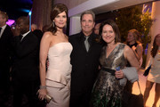 (L-R) Actors Betsy Brandt, Beau Bridges and writer/producer Michelle Ashford attend the 17th Costume Designers Guild Awards with presenting sponsor Lacoste at The Beverly Hilton Hotel on February 17, 2015 in Beverly Hills, California.