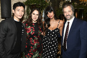 (L-R) Manny Jacinto, Megan Amram, Jameela Jamil and Judd Apatow attend the 18th Annual AFI Awards at Four Seasons Hotel Los Angeles at Beverly Hills on January 5, 2018 in Los Angeles, California.