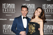 David Campbell and  Lisa Campbell arrive at the 18th Annual Helpmann Awards  at Capitol Theatre on July 16, 2018 in Sydney, Australia.