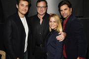 "John Mayer, Bob Saget, Candace Cameron-Bure, and John Stamos attend the 18th Annual International Beverly Hills Film Festival Opening Night Gala Premiere of ""Benjamin"" at TCL Chinese 6 Theatres on April 4, 2018 in Hollywood, California."